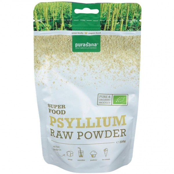 Purasana Superfood PSYLLIUM - FLOHSAMEN Raw Powder 200 Gramm Belgien