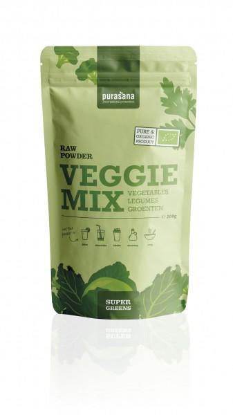 Purasana Superfood GREENS VEGGIE MIX Vegetables Mix Raw Powder 200 Gramm