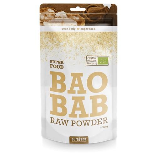 Purasana Superfood BAOBAB Raw Powder BIO 200 Gramm Senegal