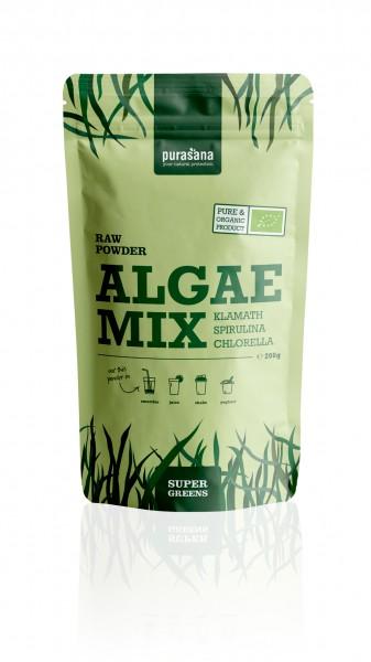 Purasana Superfood GREENS ALGE MIX Klamath Spirulina Chlorella Raw Powder 200 Gramm
