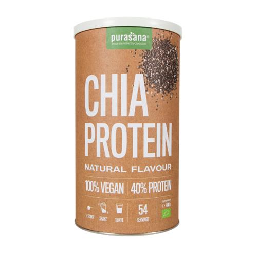 Purasana Vegan protein CHIA NATURAL 40 % 400 Gramm BIO Paraguay