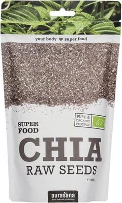 Purasana Superfood CHIA SEEDS BIO 400 Gramm Paraguay