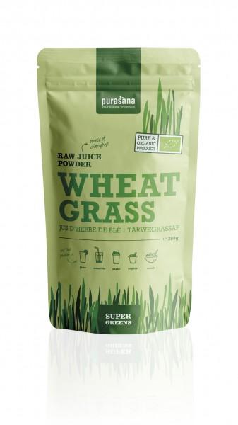 Purasana Superfood GREENS WHEAT / Weizengras JUICE Raw Powder 200 Gramm