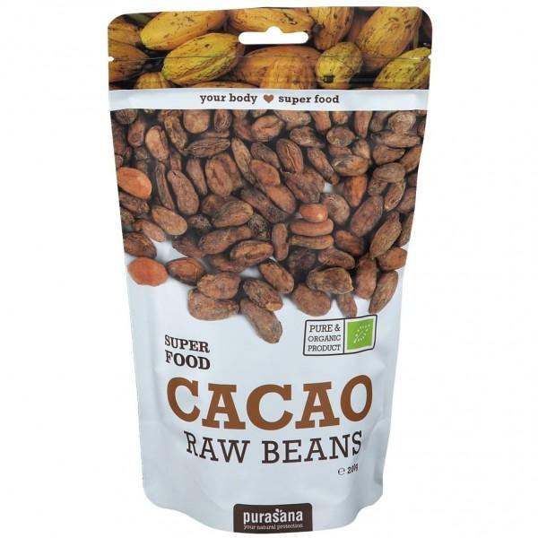Purasana Superfood CACAO BEANS BIO 200 Gramm Peru