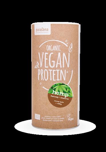 Purasana Vegan protein HEMP COCOA - KAKAO 50 % 400 Gramm BIO