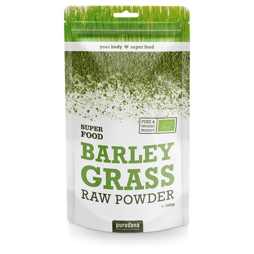 Purasana Superfood BARLEY - GERSTEN Grass Raw Powder BIO 200 Gramm Austria
