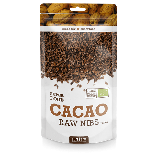 Purasana Superfood CACAO NIBS BIO 200 Gramm Peru