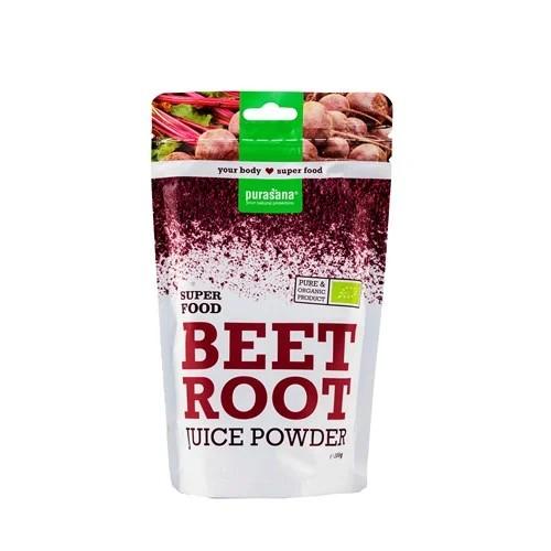 Purasana Superfood BEETROOT - RANDEN Raw Powder 200 Gramm Belgien
